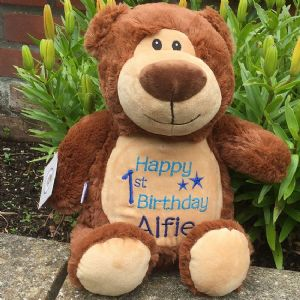 Personalised Bear Cubbie Teddy - Brown